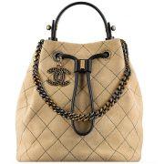 Bolsa Chanel Drawstring Suede
