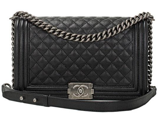 Bolsa Chanel Boy Matelasse couro caviar Tradicional