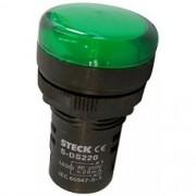 SINAL LED 220V REF. S-LDS220 VERDE - STECK