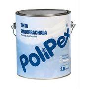 TINTA EMBORRACHA POLIPEX BRANCA - 3,6 LTS