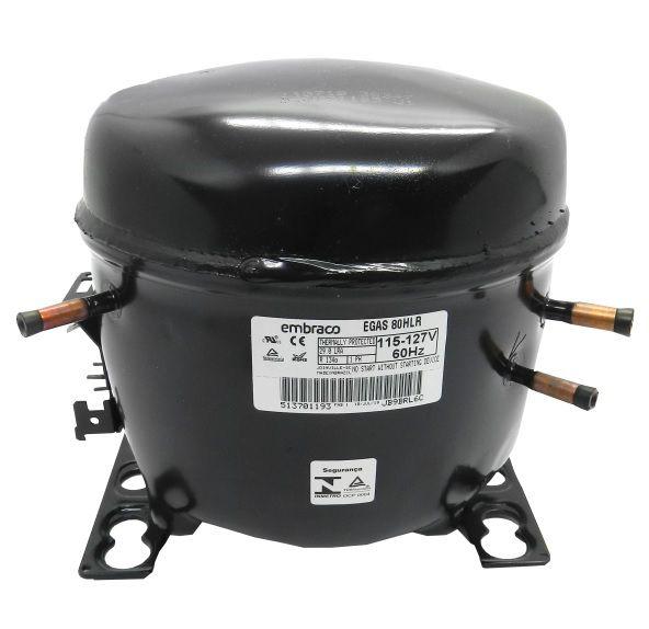 COMPRESSOR EMBRACO - 1/4+HP - 115/127V - R134-A - SEM RESF. (EGAS80HLR)