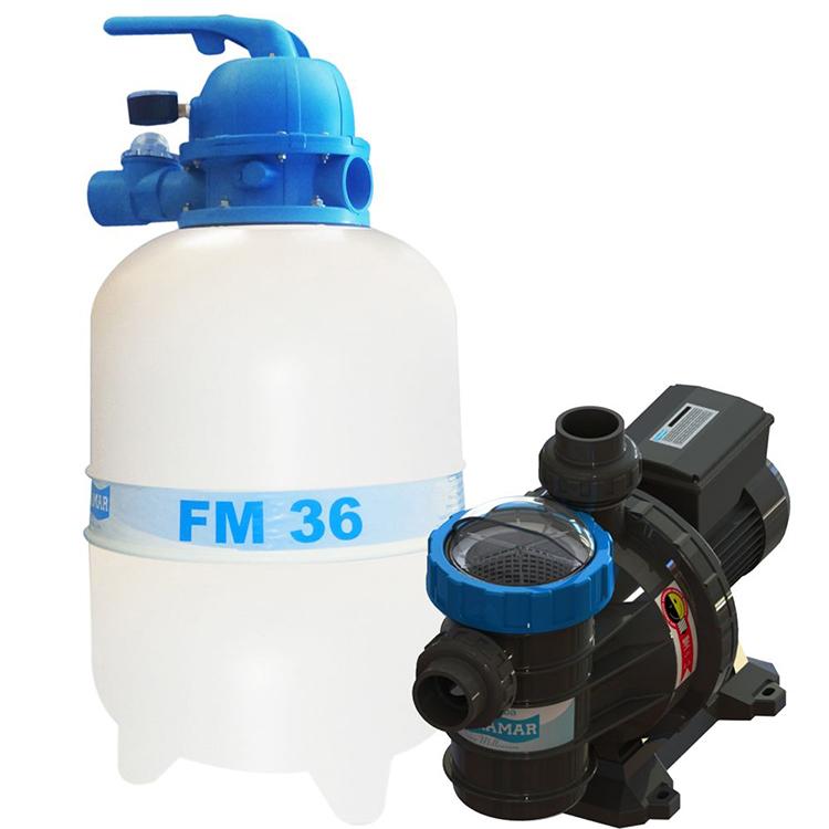 CONJUNTO FILTRANTE PARA PISCINAS SODRAMAR FM-36 E BOMBA BMC 33