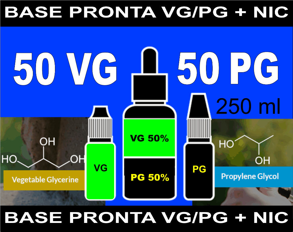 BASES PRONTAS 50% VG  50% PG  - 250 ml  - PLANETA VAPOR