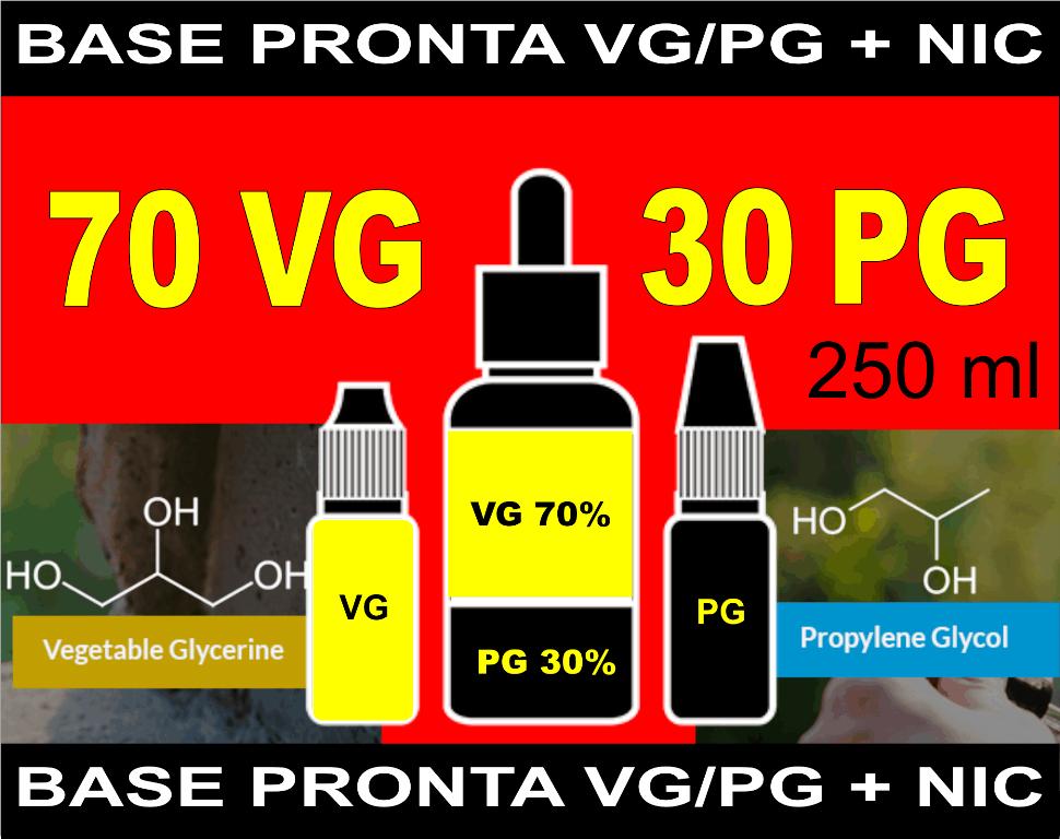 BASES PRONTAS 70% VG  30% PG  - 250 ml  - PLANETA VAPOR