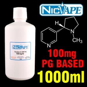 NICOTINA NICVAPE  - 100 mg/ml - 10ml    - PLANETA VAPOR