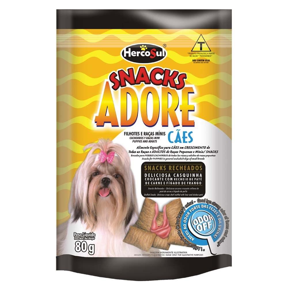 Adore Snack Cães Raças Pequenas Adulto e Filhote - 80g