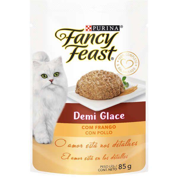 Fancy Feast Sachê Demi Glace com Frango para Gatos Adultos