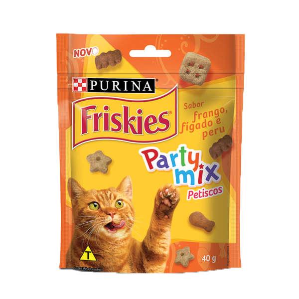 Friskies Party Mix Frango Fígado Peru - 40g