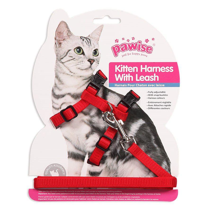 Peitoral para Gatos Kitten Harness With Leash Pawise