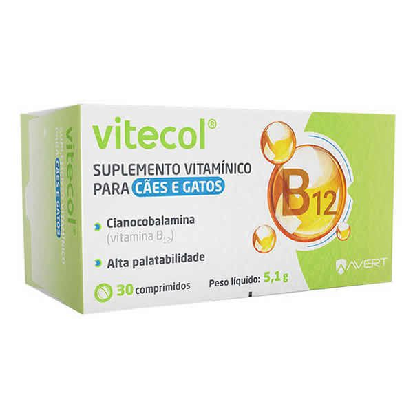 Vitecol Suplemento Vitamínico para Cães e Gatos - Avert