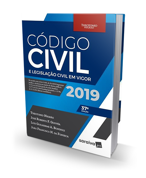 Código Civil E Legislação Civil Em Vigor - 37ª Ed. 2019