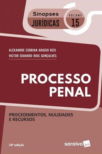 Coleção Sinopses Jurídicas Processo Penal - Procedimento Especial - Volume 15