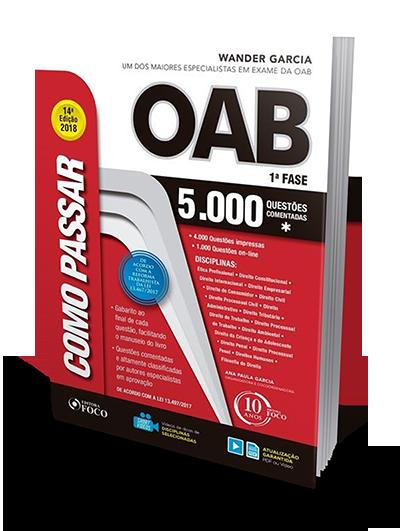 Como Passar na OAB - 1ª Fase - 5000 Questões Comentadas