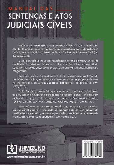 Manual das Sentenças e Atos Judiciais Cíveis