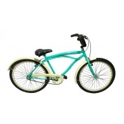 Bicicleta Aro 26 Caiçara Beach -Cor Verde Água- Café Wendy Bike Retro