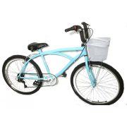 Bicicleta Beach Caiçara Praiana Confort Com Marcha