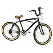 Bicicleta Retro Beach Caiçara Praiana Com Marcha