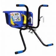 Cadeirinha De Bicicleta C/cinto Transporte Infantil Azul