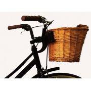 Cesta Bicicleta Vime Retro Vintage C/ Engate