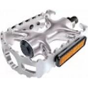 Pedal P/ Bicicleta Mtb Alumínio Polido 9/16 Grosso