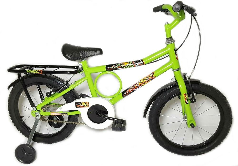 Bicicleta Aro 16 Barra Forte Infantil Barrinha Verde
