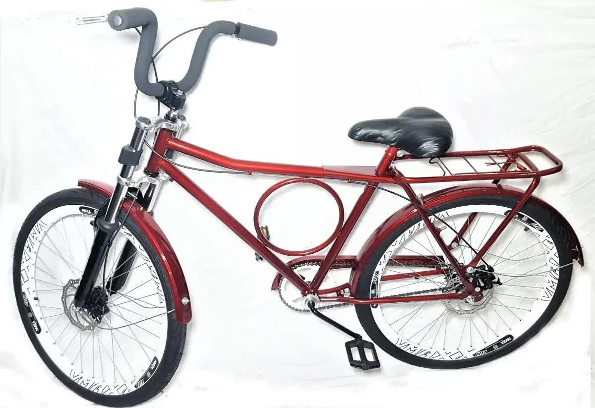 Bicicleta Aro 26 Barra Forte Com Freio A Disco Promoção