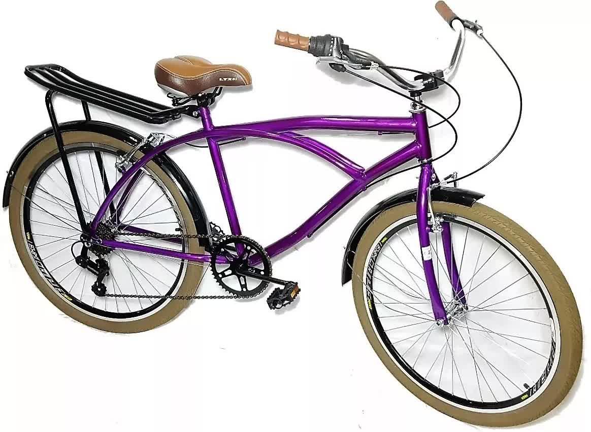 Bicicleta Beach Caiçara Praiana Estilo Retrô C/ Shimano