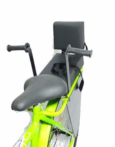 Cadeirinha Assento C/ Almofada E Recosto Traseiro P/ Bike + Bagageiro + Brinde
