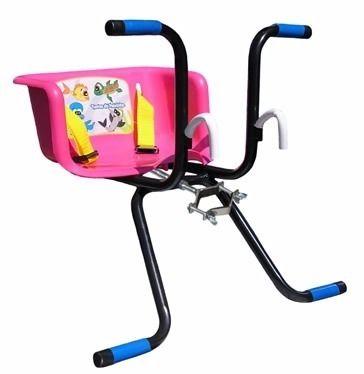 Cadeirinha De Bicicleta C/cinto Transporte Infantil ROSA