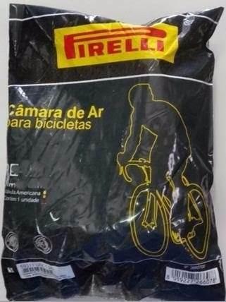 Câmara De Ar Pirelli PE Para Bicicleta Aro 26 X 1.9