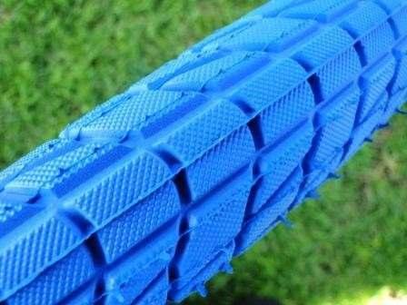 Par Pneu Aro 20x1.95 Azul Bicicleta Caloi Cross Bmx