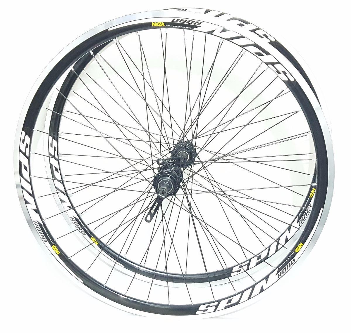 Rodas Bike Speed Aro 700 Vzan Spin C/ Blocagem Rolamento
