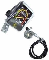 Velocímetro Analógico P/ Bicicletas 80 Km/h C/ 2 Odômetros