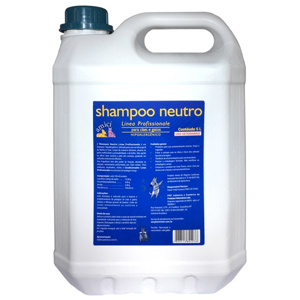 Shampoo Neutro 5L Linea Profissionale