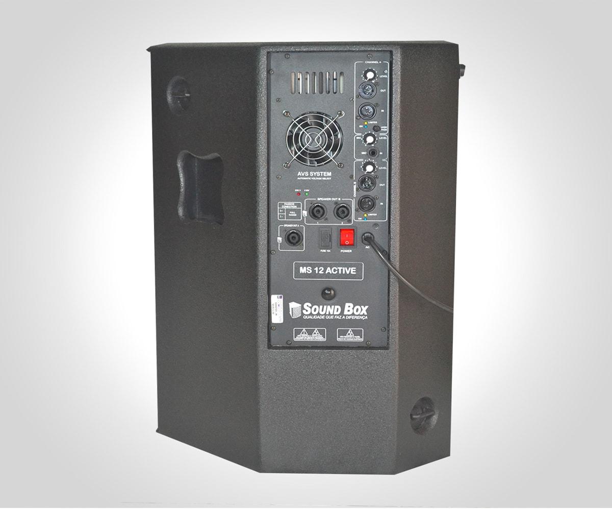 """Caixa MS12 """"Ativa"""" Alto-Falante 12"""" Sound Box"""