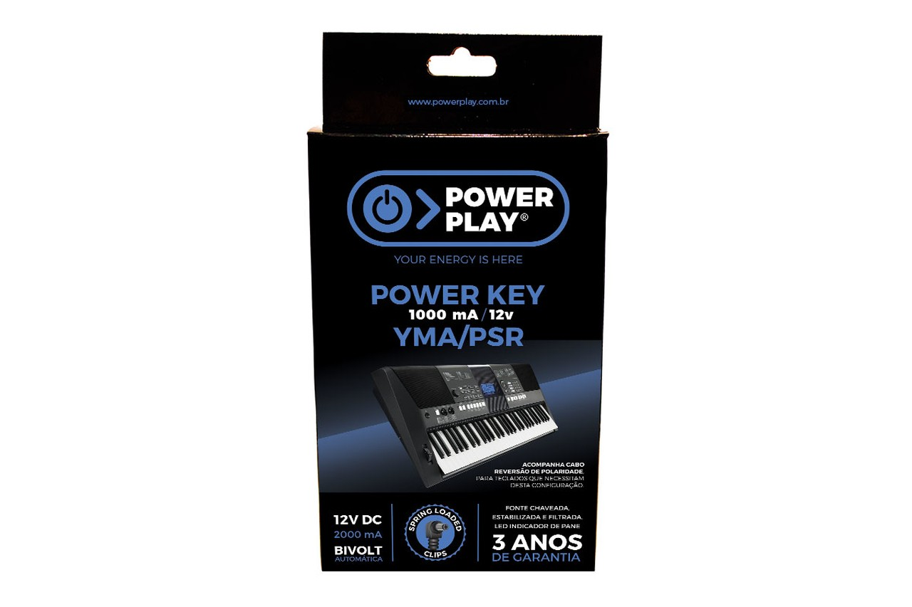 Fonte Teclado Power Play Power Key YMA/PSR