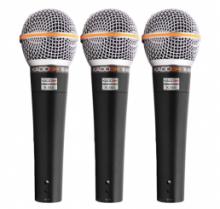 Kit de Microfones K-58V Kadosh (3 Pçs)