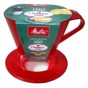 Suporte Melitta para coador pequeno - Nº100 Vermelho com Gliter
