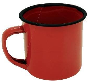 Mini Caneca Esmaltada 5 cm Vermelha