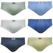 Slip Kids Algodão c/06 Gell Underwear