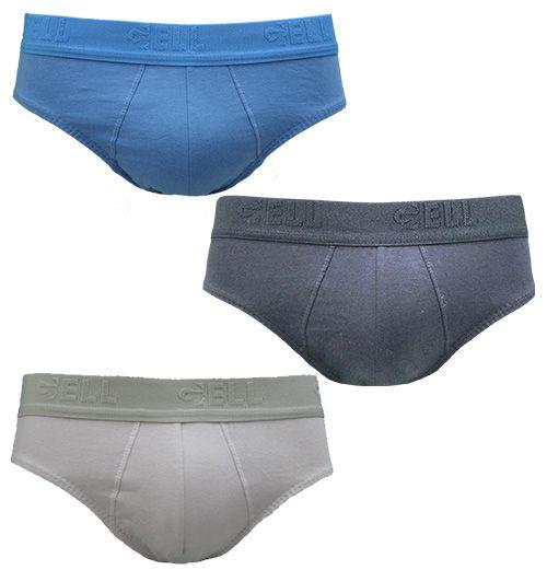 Slip Algodão Com Bojo Gell Underwear  C/3