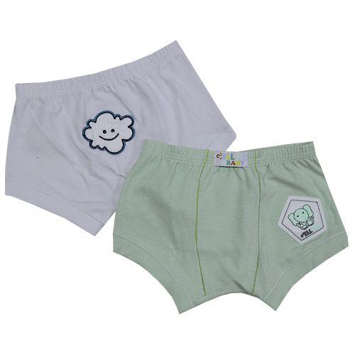 Sunga Baby Cotton Com Bordado C/2 Gell Underwear