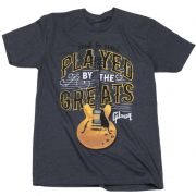 CAMISETA GIBSON PLAYED BY THE GREATS GA-PBGMXL CHARCOAL - XL - GIBSON