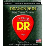 CORDAS VIOLÃO 12 CORDAS DRAGON SKIN COATED - 010 - DR STRINGS