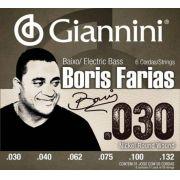 ENCORDOAMENTO BAIXO 6 CORDAS 0.030 - 0.132 BORIS FARIAS SSBNBF- GIANNINI