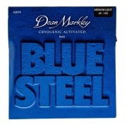 ENCORDOAMENTO CONTRA BAIXO BLUE STEEL MEDIUM LIGHT, 4 CORDAS  0.45 2674 - DEAN MARKLEY