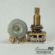 Potenciômetro PRO CTS 500K haste longa estriada - Emerson