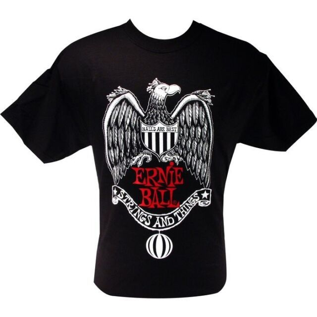 CAMISETA MÉDIA STRING & THINGS BLACK 4189 - ERNIE BALL