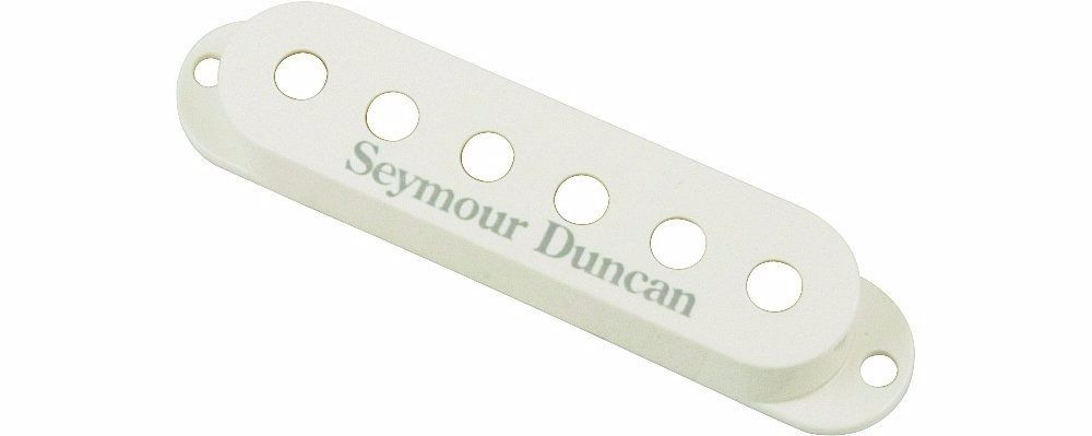 Capa para Captador Single coil S-Cover  White (3) Logo 11800-01-W - SEYMOUR DUNCAN