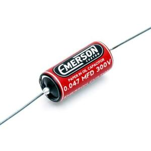 Capacitor A Oleo Emerson Custom Pio .047 Red - EMERSON